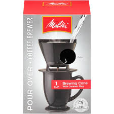 Melitta Single Cup Pour Over Brewer With Coffee Mug Black Maker