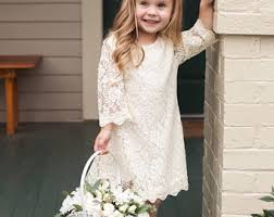 Ivory Lace Dress For Toddler Or Little Girls Rustic Vintage Flower Girl