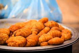 cuisine soldee strange food big worms are sold in morning market myanmar