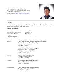 Example Of Filipino Resume Format 0