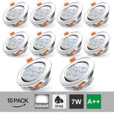 hengda 10 x 5w led einbauleuchte weiß aluminium silber matt einbauspot für flur wohnzimmer badezimmer 265v 3200k 10er pack