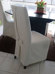 Elegance White Colored Dining Room Chair Covers For Small Design Ideas With Classy Brown
