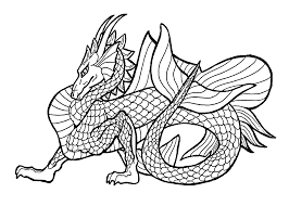 Dragon Coloring Pages Simple Printable Coloring Pages Of Dragons