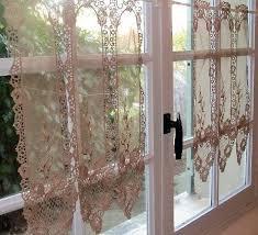 Battenburg Lace Curtains Ecru by Cream Lace Cafe Curtains Uk Scifihits Com
