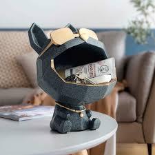 harz großen mund hund dekorative figuren lagerung box hause