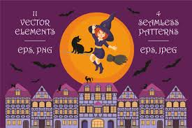 Free Cute Halloween Flyer Templates by Happy Halloween Vector Elements And Se Design Bundles