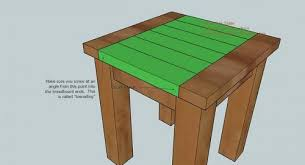 Make Outdoor End Table by Ana White Tryed Side Table Diy Projects
