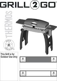 Brinkmann Electric Patio Grill Manual by Thermos Gas Grill 465611003 User Guide Manualsonline Com