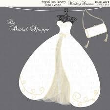 wedding clip art clipart wedding dress by digitalfunfactory