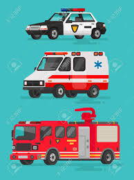 100 Emergency Truck Set Of Vehicles Police Car Ambulance And Fire