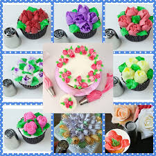 Cakes Decorated With Russian Tips by Amazon Com Deluxe Russian Piping Tips Set 63 Pcs Cake And Cupcake