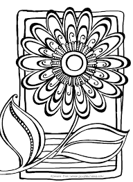 Abstract Flower Coloring Pages Patterns