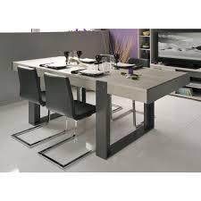 table salle à manger style industriel décor chêne et gris l 224