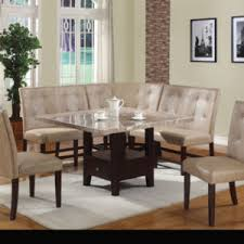 Dining Room Divine Decoration Using Astounding Tufted Cream Leather With Immaculate Table Loveseat