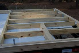 Distance Between Floor Joists On A Deck by Framing The Floor U2013 The Tiny Life