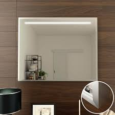 design spiegel linea top mit rahmen silber matt