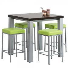 table de cuisine haute avec tabouret table haute pour cuisine avec tabouret design en image