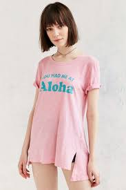 truly madly deeply you had me at aloha tunic tee in pink lyst