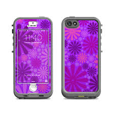Lifeproof iPhone 5S Nuud Case Skin Purple Punch by Pixel Decor