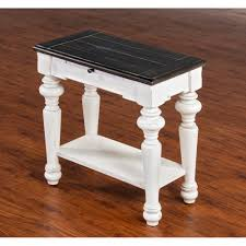 cottage white chairside table l ideebois