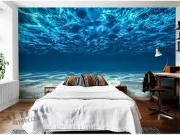 Free Shipping Charming Deep Sea Photo Wallpaper Custom Ocean Scenery Large Mural Silk Wall Painting Kids Bedroom Living Room Childrenu0027s