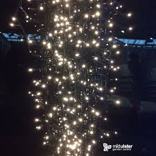 8ft Artificial Christmas Tree Ireland by Lumineo Led Twinkle Compact Lights Warm White 1500 Lights