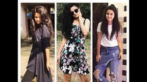 Teenage Girls Fashion Trend Avneet Kaur Lookbook 2017