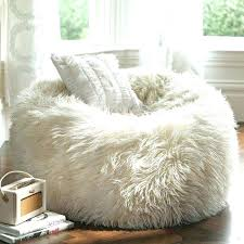Fuzzy Chairs Bean Bag White Furry Chair Fur Leather