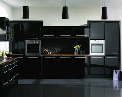 Flowy Black Kitchen Cabinets L83 In Simple Home Designing