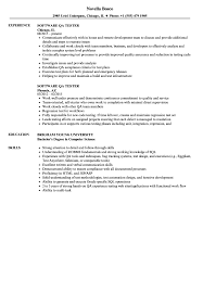 Sample Software Tester Resumes - Jasonkellyphoto.co