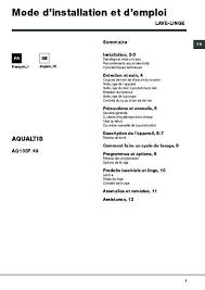 notice seche linge hotpoint ariston notice et pièces hotpoint aqualtis aq103f49fr lave linge pompe