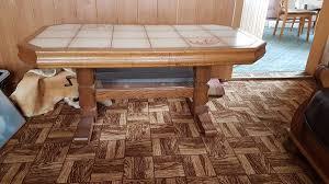 kacheltisch couchtisch eiche rustikal tisch