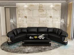 ledersofa wohnlandschaft ecksofa eck garnitur rund design sofa neu r7007e