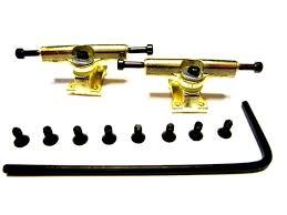 100 Fingerboard Trucks Gold Allen Key Wooden STech Decking By Star Ing