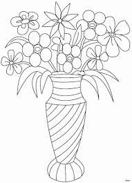 Coloring Flowers Unique Vases Flower Vase Coloring Page Pages