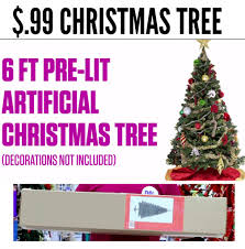 6ft Artificial Christmas Tree Pre Lit by 99 Cents Only Stores 6 U2033 Christmas Tree Only 0 99