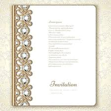 Beautiful Borders And Frames For Wedding Invitation Vintage Golden With Diamond Vector