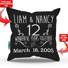 Personalized Relationship Anniversary Throw Pillow Cover 18