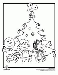 Charlie Brown Christmas Tree Coloring Page With Snoopy Lucy And Linus