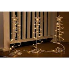 H Christmas Spiral Tree Decor With Lights