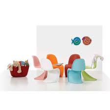 chaises panton cheap coussin ray en lin orange ivoire et gris sur