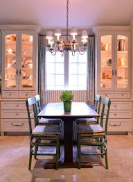 Dining Set With China Cabinet Farmhouse Room And Bench Built In Storage Cabinets Chandelier
