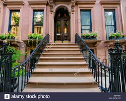 Lovely Brownstone Building With Wrought Iron Banister In Brooklyn ... Wrought Iron Stair Railing Idea John Robinson House Decor Exterior Handrail Including Light Blue Wood Siding Ornamental Wrought Iron Railings Designs Beautifying With Interior That Revive The Railings Process And Design Best 25 Stairs Ideas On Pinterest Gates Stair Railing Spindles Oil Rubbed Balusters Restained Post Handrail Photos Freestanding Spindles Installing