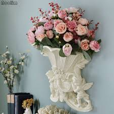 NOOLIM Creative European Style Retro Resin Vase Home Furnishing Decoration Living Room Dining Table Vases Flower
