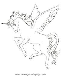 Unicorn With Wings Drawing At GetDrawings Realistic Winged Coloring Pages