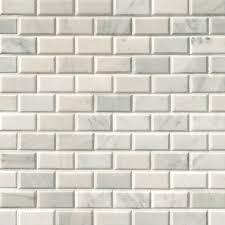 subway tile greecian white subway tile beveled 2x4