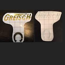 bureau d udes greisch gretsch 6120 gold true foil or white guitar headstock decal