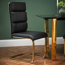 SLEEK MODERN BLACK LEATHER PAIR OF 2 DINING CHAIRS WITH POLISHED GOLD LEGS Mcr4502f Ding Chairs Fniture By Safavieh Ding Chairs Gold Coast Graysonline Brabbu Room Chair N 20 Gold Faux Leather Navy With Hdware Legs Askar In Black And Rose For Timeless Modern Style Alligator Embossed Leaf Table Set Cameron Beige Tufted Velvet On Stainless Steel Base Of 2 Meridian Akoya Pink Salvatore Grey