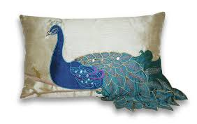 Decorative Couch Pillows Amazon by Amazon Com Thro By Marlo Lorenz 4183 Fancy Peacock 12 By 20 Inch