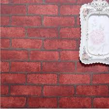 Red Brick Stone Wallpaper Self Adhesive PVC Vintage Living Room TV Wall Decor 3D Paper 10m Roll In Wallpapers From Home